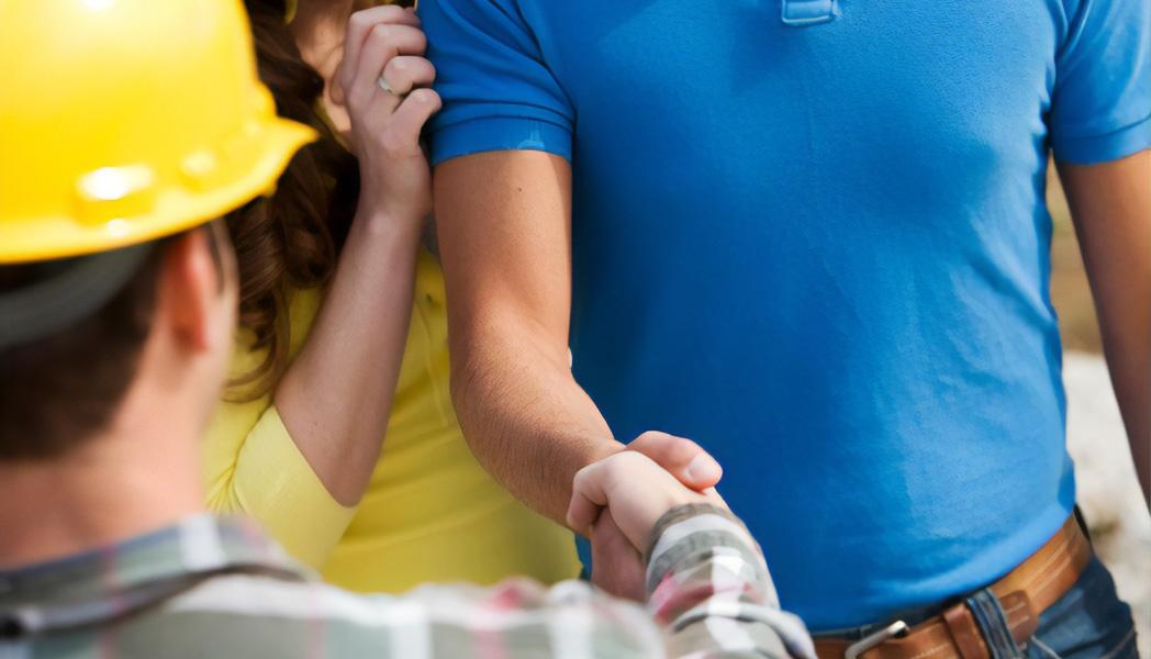 Shaking Hands With Homebuilder